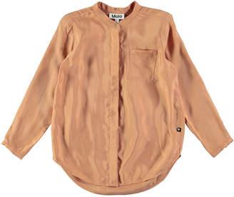 Molo Rafa Velvet Rose Long-Sleeve Blouse, Pink, Size 3T-14