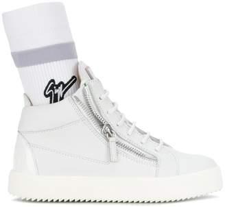 Giuseppe Zanotti Design logo sock sneakers