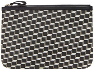 Pierre Hardy Black And White Large Cube Perspective Pouch