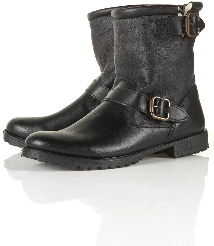 MARLO Furlined Biker Boots