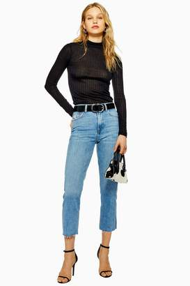 Topshop Mid Blue Editor Jeans