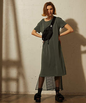 Aula Aila (アウラ アイラ) - [Aula Aila] Mesh Layered Tee Dress(1184-03054)
