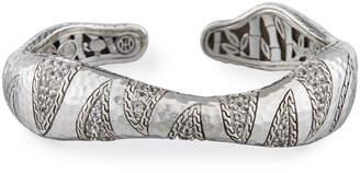 John Hardy Macan Palu White Topaz Cuff Bracelet, Size M