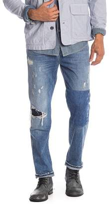 Hudson Jeans Dixon Easy Straight Leg Distressed Jeans