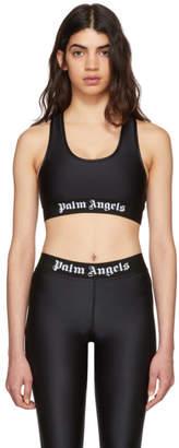 Palm Angels Black Logo Band Sports Bra
