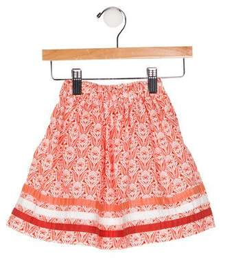 Bontoni Girls' Printed Flare Skirt