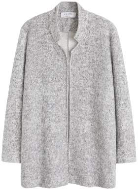 Violeta BY MANGO Textured cotton-blend jacket