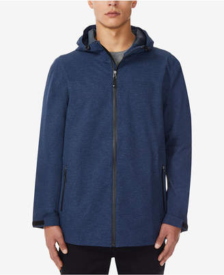 32 Degrees Men Storm Tech Full-Zip Hooded Rain Jacket