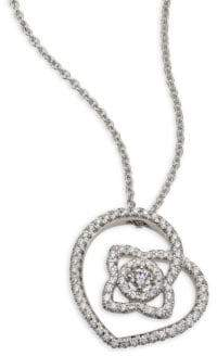 De Beers Enchanted Lotus Diamond Pendant Necklace - White Gold
