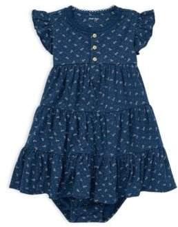 Ralph Lauren Baby Girl's Two-Piece Printed Cotton Dress& Bloomers Set