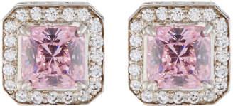 FANTASIA Octagonal Pave Crystal Stud Earrings
