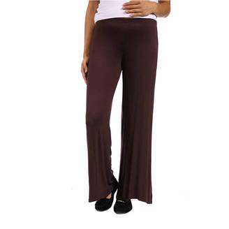 24/7 Comfort Apparel Womens Over Belly Palazzo Pant-Plus Maternity