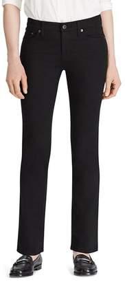 Ralph Lauren Modern Curvy Straight-Leg Jeans in Black