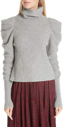 A.L.C. Moy Leg of Mutton Turtleneck Sweater