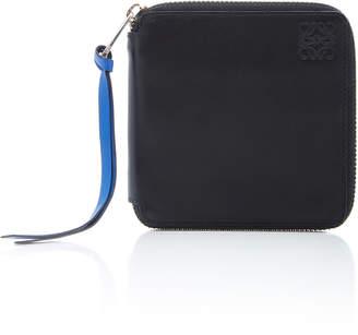 Loewe Square-Zip Rainbow Leather Wallet