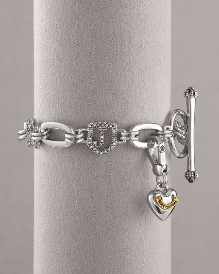 Juicy Couture Luxe Starter Charm Bracelet, Silver