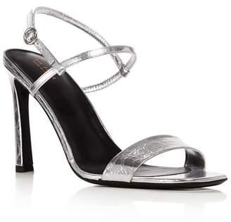 34195d183dc Via Spiga Silver Leather Women s Sandals - ShopStyle