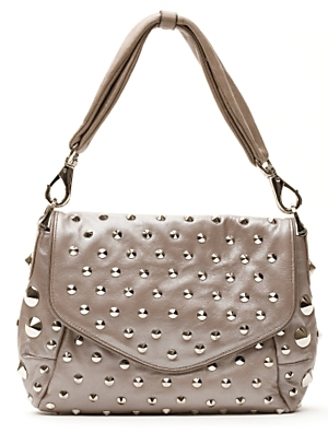 Be&d Garbo Studded Shoulder Bag: Taupe