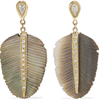 Jacquie Aiche 14-karat Gold, Diamond And Pearl Earrings