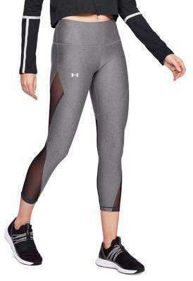 Under Armour Mesh-Paneled Cropped Leggings