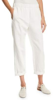 Forte Forte Cotton-Linen Cropped Straight-Leg Pants