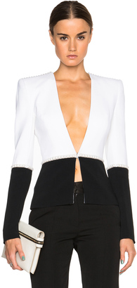 Mugler Bi Color Fitted Cady Blazer $2,630 thestylecure.com