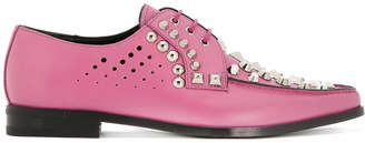 Prada stud embellished lace-up shoes