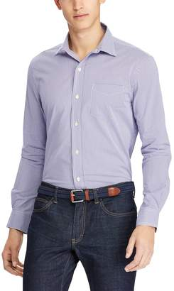Chaps Men's Classic-Fit Gingham Stretch Easy-Care Woven Button-Down Shirt