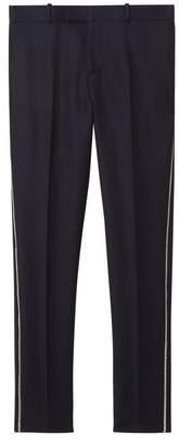 Burberry Slim Fit Bullion Stripe Wool Twill Tailored Trousers