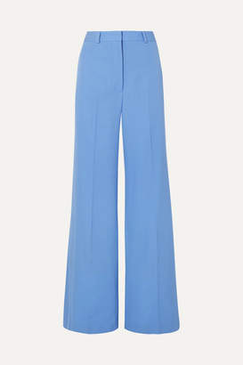 Stella McCartney Dolce Wool-twill Wide-leg Pants - Blue