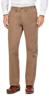 Maine New England MAINE Tan Chino Regular Fit Trousers