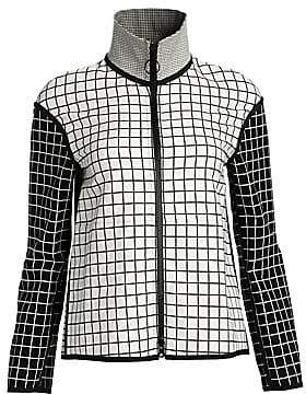 Akris Punto Women's Mixed Grid Zip-Front Jacket