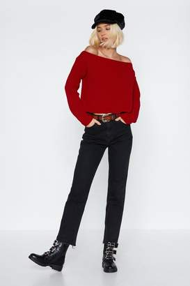 Nasty Gal Had Knit Up to Here Off-the-Shoulder Sweater