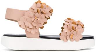 Grey Mer floral sandals