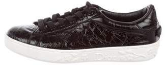 Christian Dior Patent Leather Lace-Up Sneakers