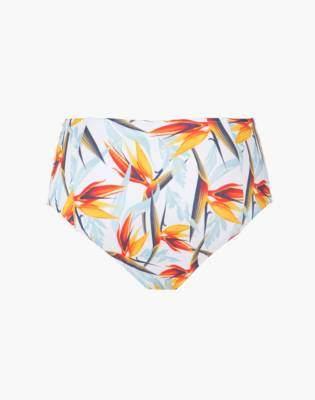 LIVELY High-Waist Bikini Bottom in Day Break Print
