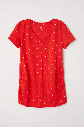 H&M MAMA V-neck Top - Red