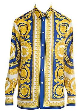 Versace Men's Baroque Silk Shirt