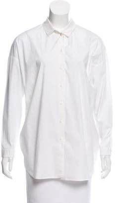 Paule Ka Long Sleeve Button-Up Top