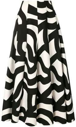 Junya Watanabe geometric print circle skirt