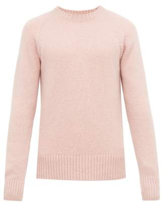 Ami Raglan Sleeve Crew Neck Sweater - Mens - Pink