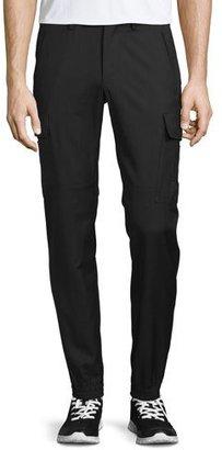 Ralph Lauren Touring Cargo Wool Gabardine Pants, Black $795 thestylecure.com
