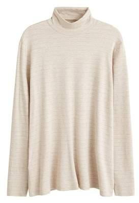 Violeta BY MANGO Metallic stripes t-shirt
