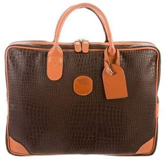 Bric's Embossed Leather Briefcase