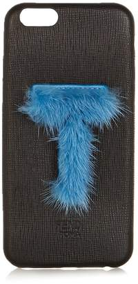 Fendi T mink-fur and leather iPhone® 6 case