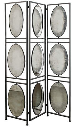 """A&B Home 75"""" x 47.52"""" 3 Panel Room Divider"""
