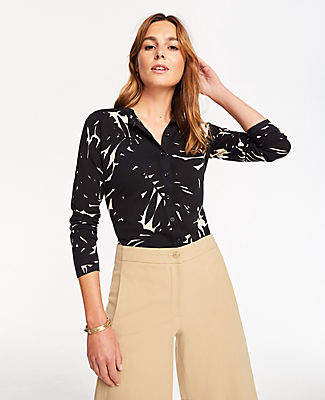 Ann Taylor Petite Midnight Jungle Ann Cardigan
