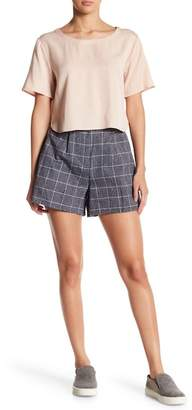 NATIVE YOUTH Brushed Herringbone Checkered Shorts