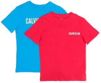 Calvin Klein Kids logo T-shirt two pack
