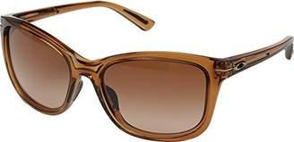 Oakley Sun 0OO9232 Full Rim Cat Eye Woman Sunglasses - Size (Topaz / VR50 Brown Gradient)